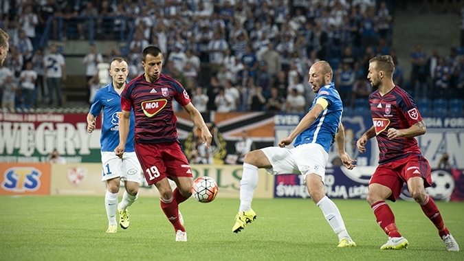 Mirko Ivanovski during the game